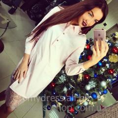 Блуза-туника с гипюром