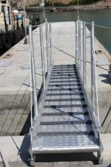 Ladder staircases ship of aluminum