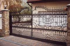 Gates wrought iron Antique House spirit