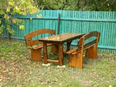 Furniture wooden for a garden, for giving