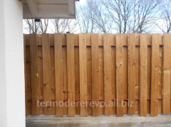 Fence from a thermotree, thermoboards