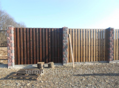Fence from a thermotree, thermowood