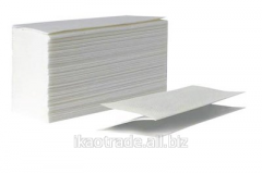 Towels paper sheet white V-laying in packs on 200