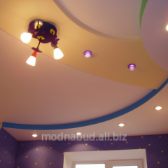 Натяжной потолок Mat malachite