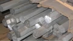 Aluminum hexagon of D16T