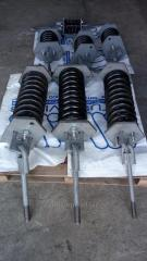 Springs of suspension brackets of pipelines,