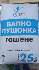 Lime hydrate pushonka, 25 kg, Belarus