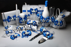 Set wedding Flowers blue