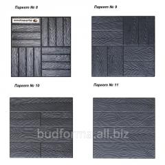 Форми для виготовлення дорожніх плит з бетону
