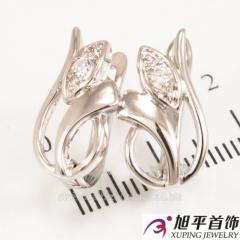 """""""Tulip"""" rodium earrings 624,170"""