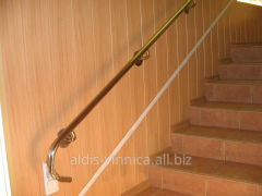 The hand-rail is wall