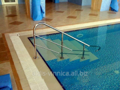 Hand-rail for the pool