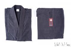 Black kimono (DO.GI) for single combats