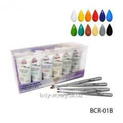 Set of glossy art acrylic BCR-01B paints