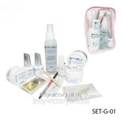 Set for building by SET-G-01 gel