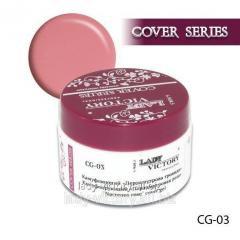 The camouflaging Nacreous Rose gel. CG-03