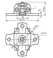 Clip basic 2AA-4-3