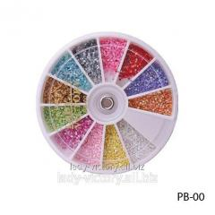 Color paillettes in round container. PB-00