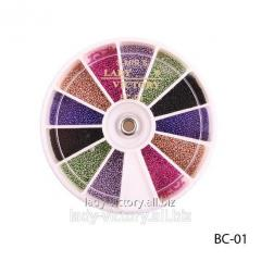 Color bulyonka in round container. BC-01