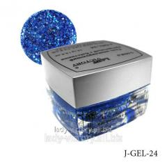 The modeling gel with J-GEL spangles