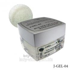 The modeling gel with J-GEL-(01-10) spangles