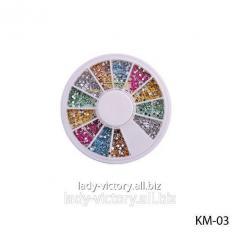 Round decorative pastes. KM-03
