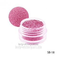Pink paillettes in a round container. SB-18