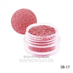 Crimson paillettes in a round container. SB-17