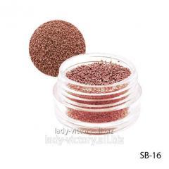 Crimson paillettes in a round container. SB-16