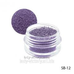 Violet paillettes in a round container. SB-12