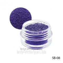 Dark-violet paillettes in a round container. SB-08