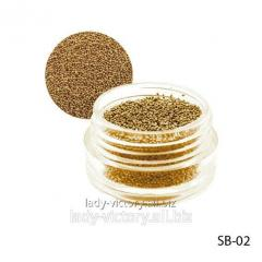 Gold bulyonka in a round container. SB-02