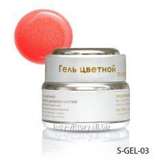 Light pink nacreous gel with microspangles.