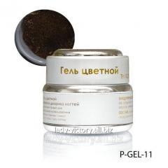 Brown nacreous gel. P-GEL-11