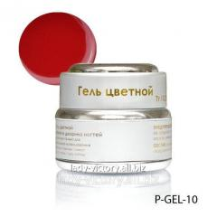 Dark red nacreous gel. P-GEL-10