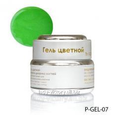 Lime nacreous gel. P-GEL-07