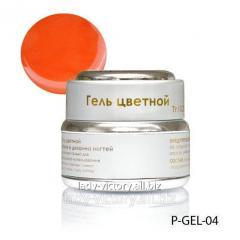 Orange nacreous gel. P-GEL-04
