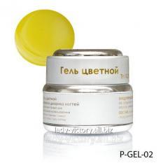 Nacreous gel of lemon color. P-GEL-02