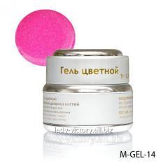 Pink gel withdiamond gloss
