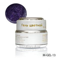 Violet gel with diamond gloss. M-GEL-13