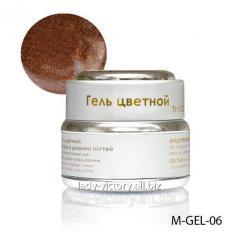 Yellowy-brown gel
