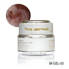 Dark-peach gel with diamond gloss. M-GEL-05