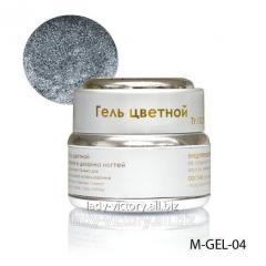 Silver gel withdiamond gloss