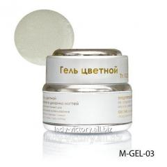 Gel of milk color withdiamond gloss
