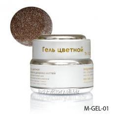 Brown gel with diamond gloss. M-GEL-01