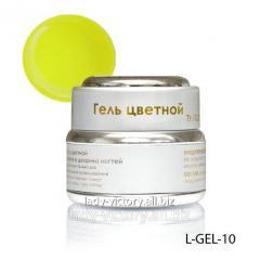 Stained glass gel of lemon color. L-GEL-10