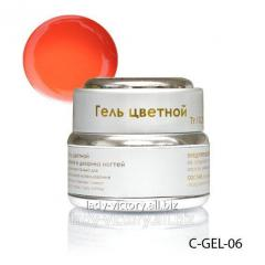 Gel for nails of peach color. C-GEL-06