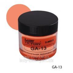 Acrylic powder of apricot color. GA-13