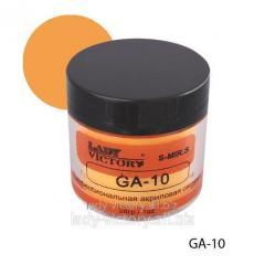 Dark yellow acrylic powder. GA-10