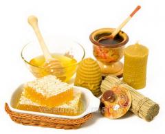 Natural honey, pollen flower, beeswax, foundation